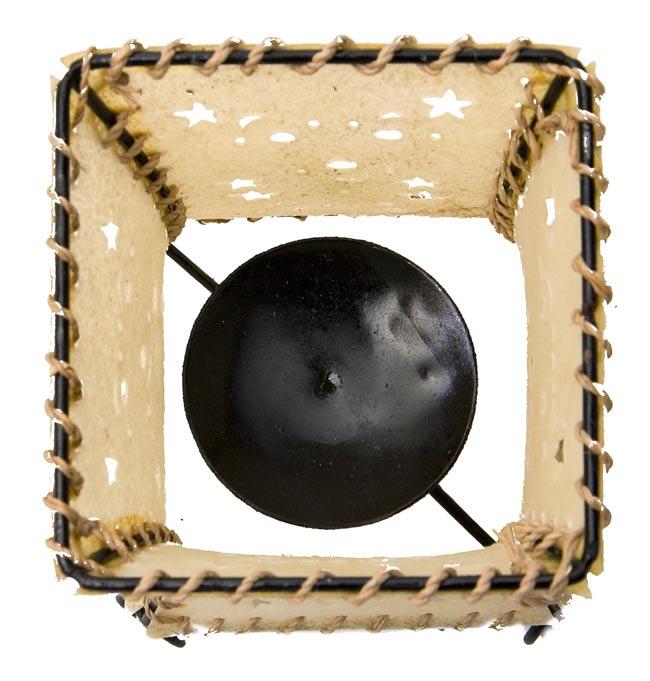 ゴートスキンのキャンドルスタンド の写真3 - 真上から撮ってみました。