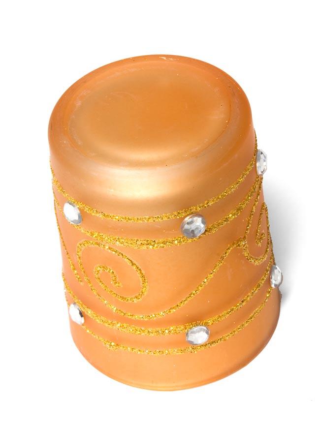 キラキラキャンドルグラス【高さ:6.5cm*横:5.5cm】-ゴールドの写真3 - 裏側はこんな感じです。