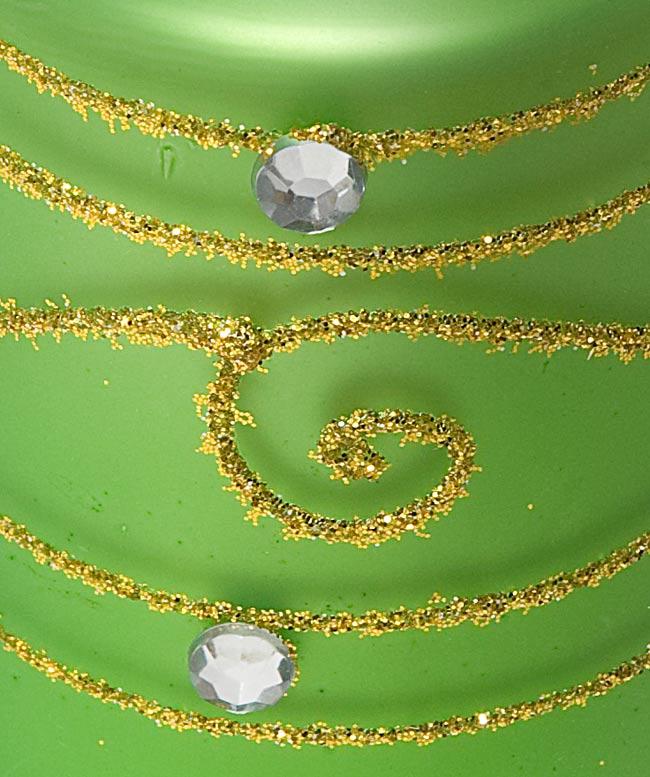 キラキラキャンドルグラス【高さ:6.5cm*横:5.5cm】-グリーンの写真4 - アップにして撮ってみました。