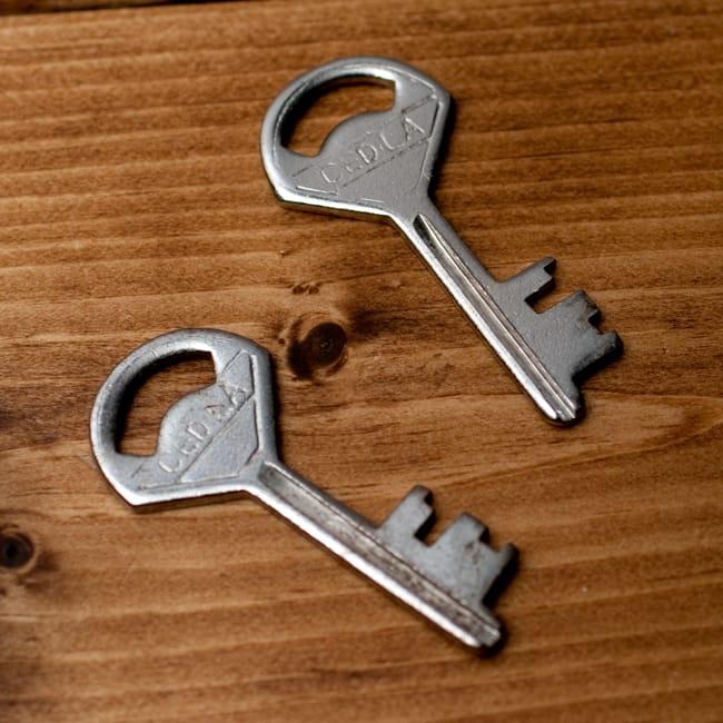 インドの南京錠 【Lサイズ】 7 - メインとスペアで、こちらの2点カギが付属します。
