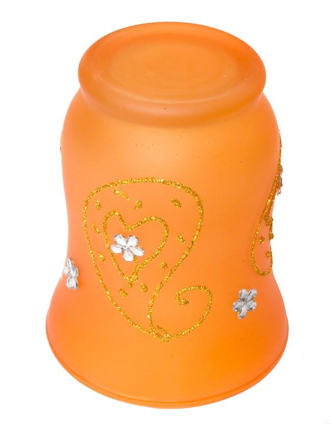 キラキラキャンドルグラス【高さ:9.5cm*横:7.5cm】-オレンジの写真3 - 裏側はこんな感じです。