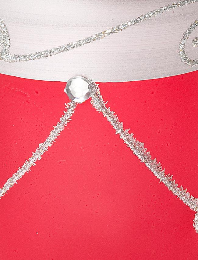 キラキラキャンドルグラス【高さ:9.5cm*横:7.5cm】-レッドの写真4 - アップにして撮ってみました。