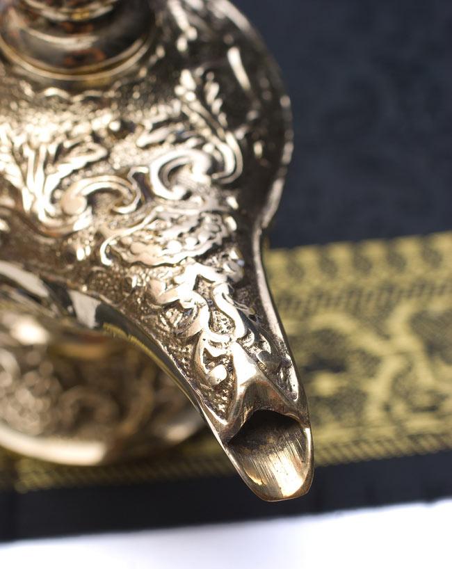 アラジンの魔法のランプ 【19cm×12cm】の写真6 - 注ぎ口はこのような形になっています。