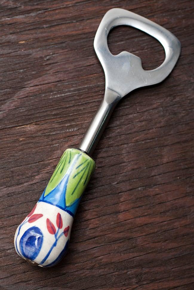 ジャイプルポッタリーのボトルオープナー(栓抜き)の写真