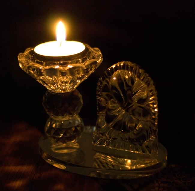 ガネーシャのグラスキャンドルスタンドの写真4 - 丸めのガネーシャはこんな感じ