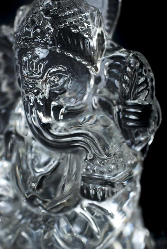 [訳アリ]蓮に坐るクリスタルガネーシャ[14cm]の写真7 - 手元を見てみました。