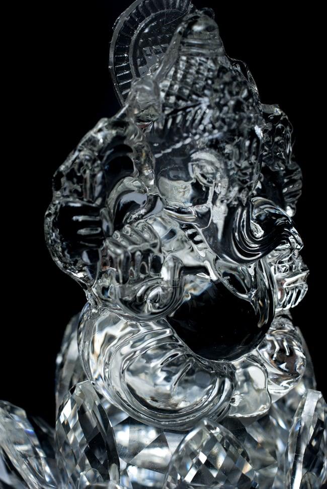 [訳アリ]蓮に坐るクリスタルガネーシャ[14cm]の写真8 - ふっくらとしたお腹周りが素敵です。
