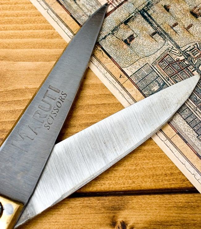 インドのレトロゴールド裁ちばさみ(MARUTI製) 3 - 刃先をアップしてみました、よく切れそうです