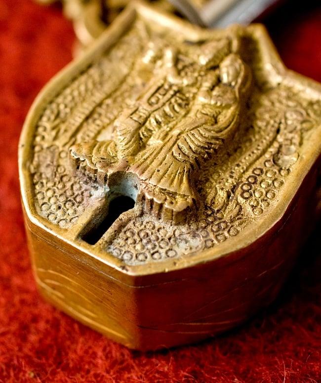 アンティック風南京錠- クリシュナ(小) 3 - 鍵穴部分です、まさに「錠」というような感じです。ここがすごく可愛いです。