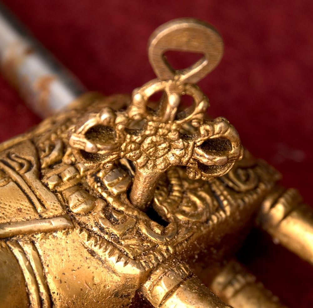 アンティック風南京錠- ぞうさん 4 - 鍵です、こちらもアンティーク風に作られています。