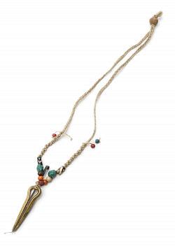 ネパールの口琴ネックレス【ゴールド・小】