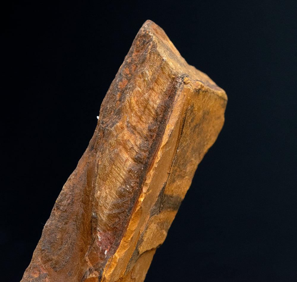 タイガーアイの原石[50-70g][アソート] 7 - 研磨前ですが、タイガーアイの模様が見えますね