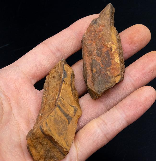 タイガーアイの原石[50-70g][アソート] 9 - サイズ比較のために手に持ってみました