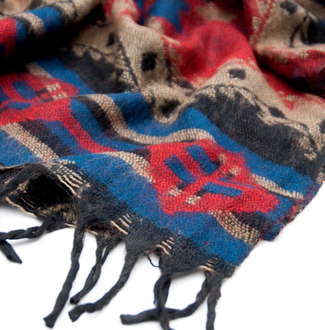 【大判】伝統ダッカ織りデザインのストール 4 - 縁の部分です