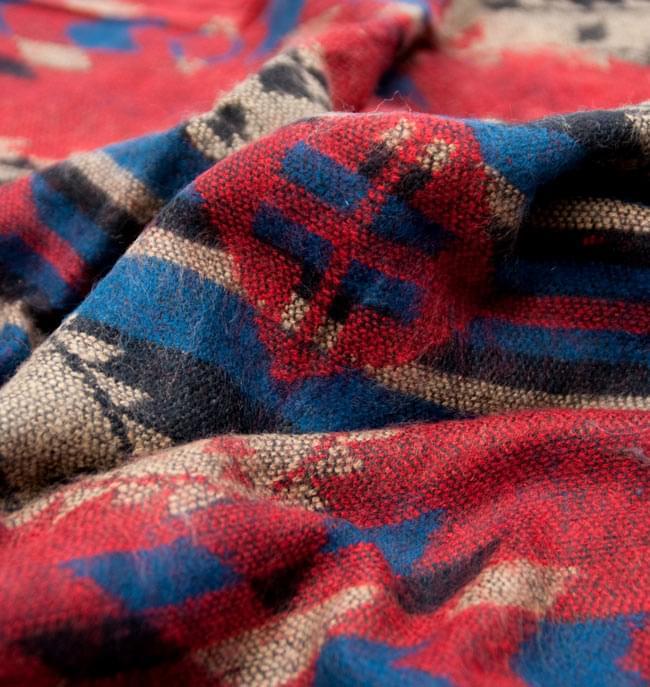 【大判】伝統ダッカ織りデザインのストール 5 - 柄の一部を拡大してみました