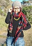 【大判】伝統ダッカ織りデザインのストールの商品写真