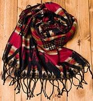 エスニック衣料のセール品:[日替わりセール品]伝統ダッカ織りデザインのストール