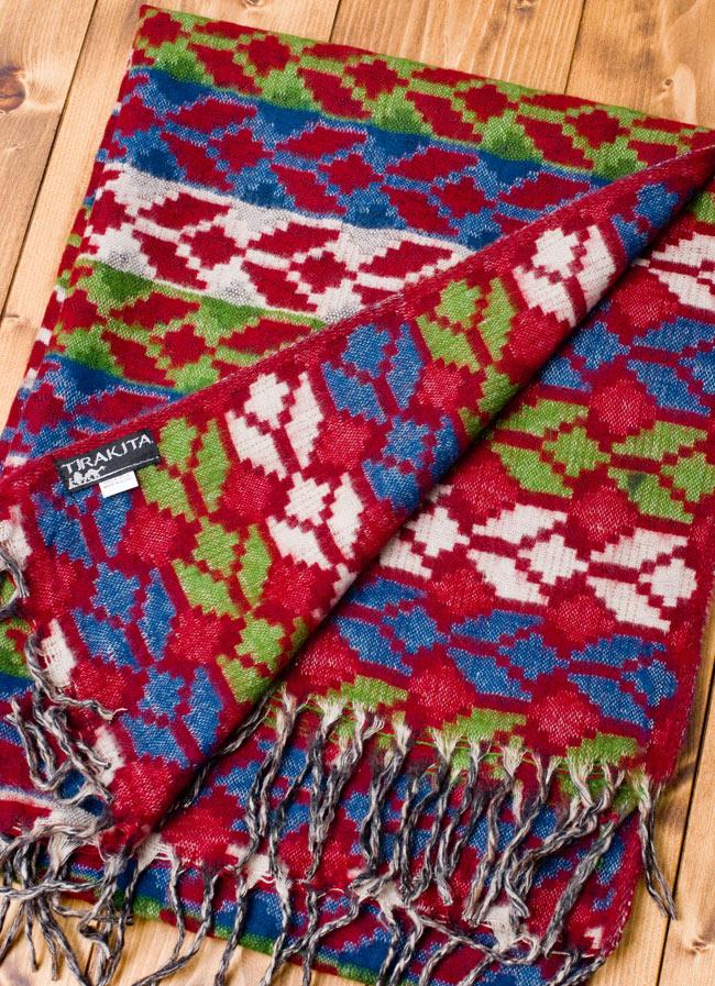 伝統ダッカ織りデザインのストール 5 - 裏面も素敵です。
