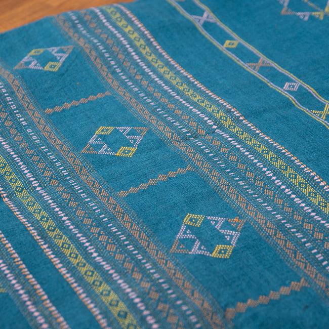 【1点もの】ブジョーディ村の手織りショール 3 - 絶妙な色の組み合わせが可愛いですね。