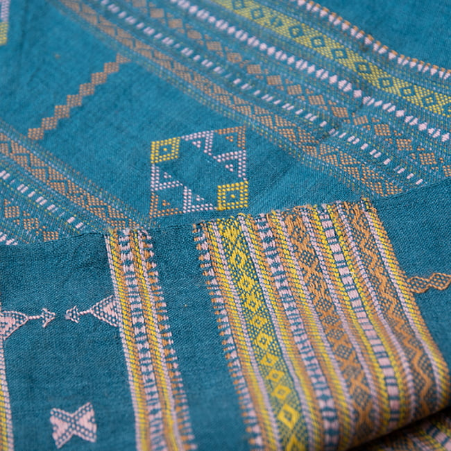 【1点もの】ブジョーディ村の手織りショール 5 - 細かなデザインがとても美しいです。