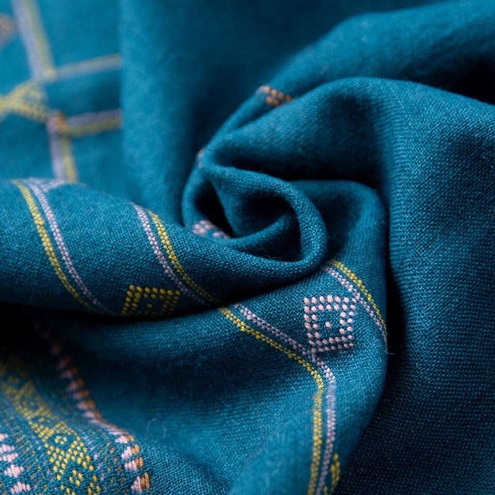 【1点もの】ブジョーディ村の手織りショール 8 - 絶妙な色の組み合わせが可愛いですね。