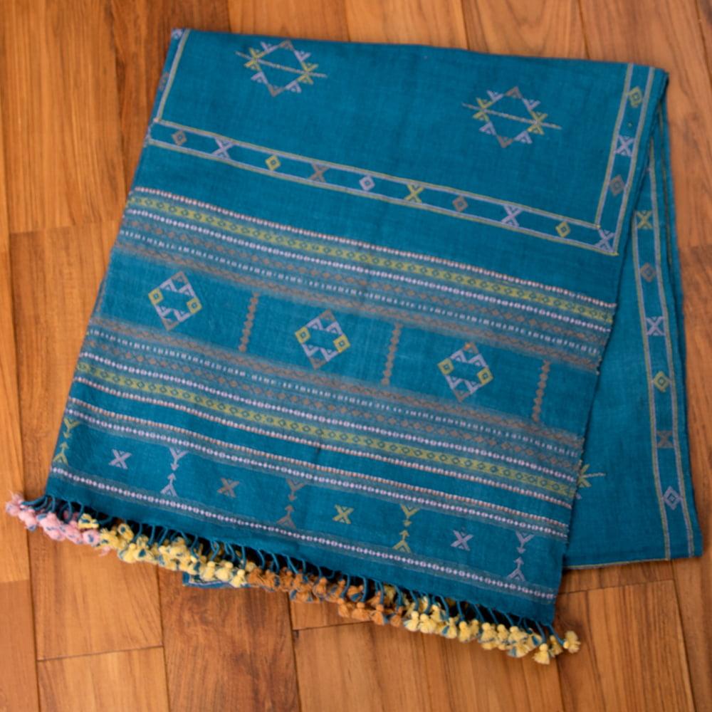 【1点もの】ブジョーディ村の手織りショールの写真