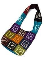 インドとアジアのバッグのセール品:[サマーセール第三弾!]カラフルパッチワーク・ショルダーバッグ