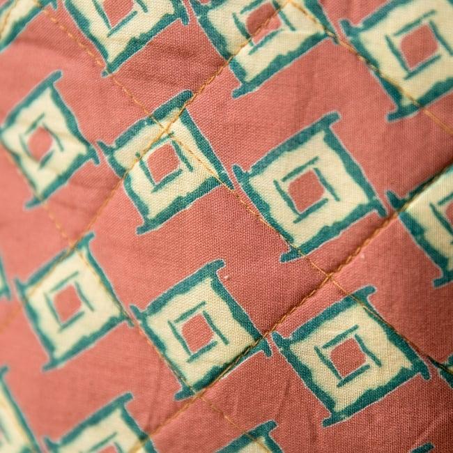 インド綿のトートバッグ 【ピンク】 4 - アップにしてみました!