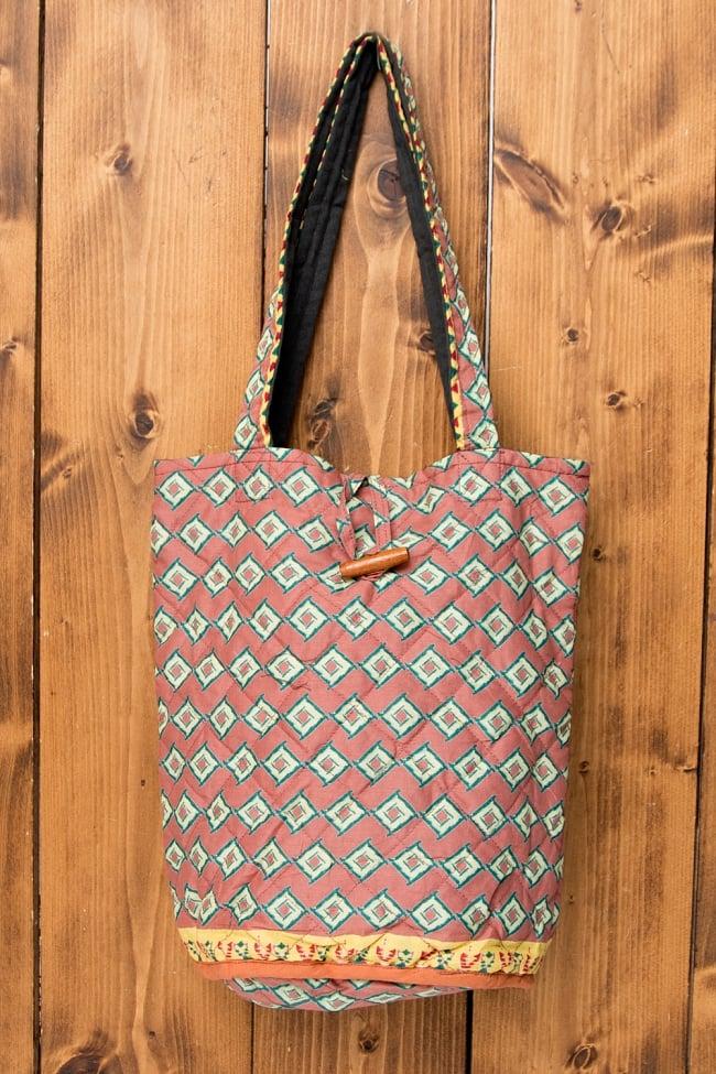 インド綿のトートバッグ 【ピンク】の写真