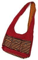 ワイドショルダーバック - 赤x黒オレンジ