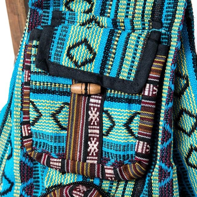 折りたためるから便利!おにぎりバックパック 3 - 小さなポケットも可愛いです。タバコや鍵、リップクリームなど、小さな物をいれるのにピッタリですね。