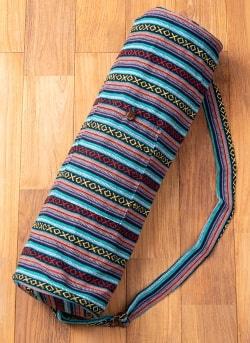 【大サイズ】ネパール織り布のヨガマットバッグ