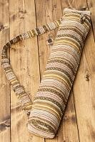 ネパール織り布のヨガマットバッグ