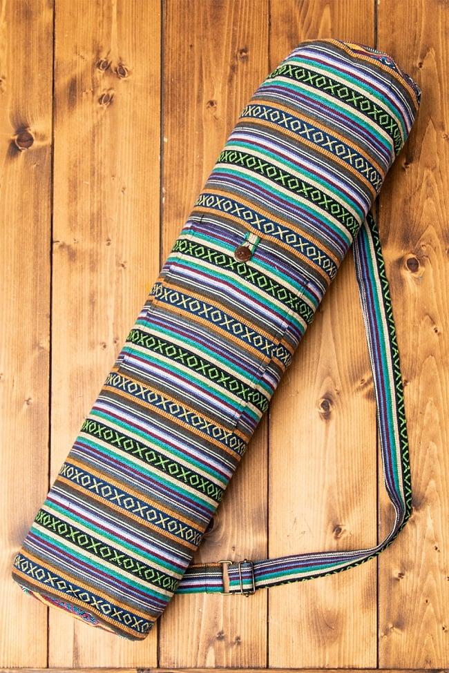 [ジッパータイプ]ネパール織り布のヨガマットバッグ 1