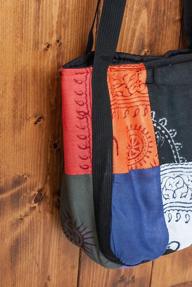 パッチワークトートバッグ 【ラムナミ】 5 - 側面を見てみました。