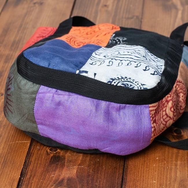 パッチワークトートバッグ 【ラムナミ】 9 - マチは11cmほどあります。