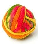 カラーウールボール - 赤×オレンジ×緑