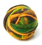 カラーウールボール - 茶×緑の商品写真