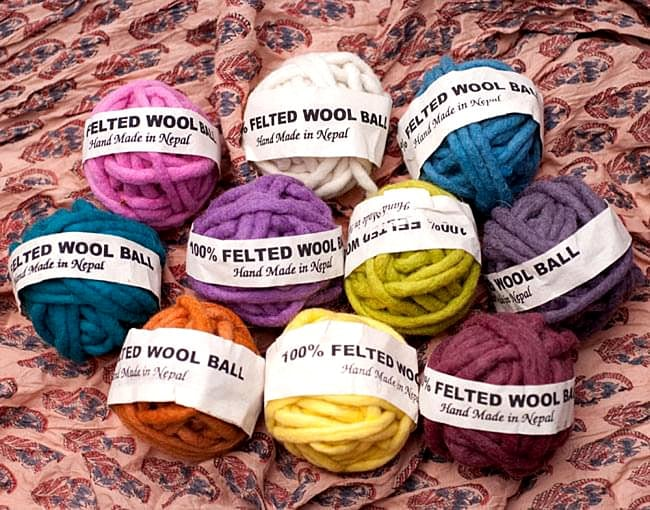 フェルトウールボール - あずき 7 - さまざまなお色をご用意しております。