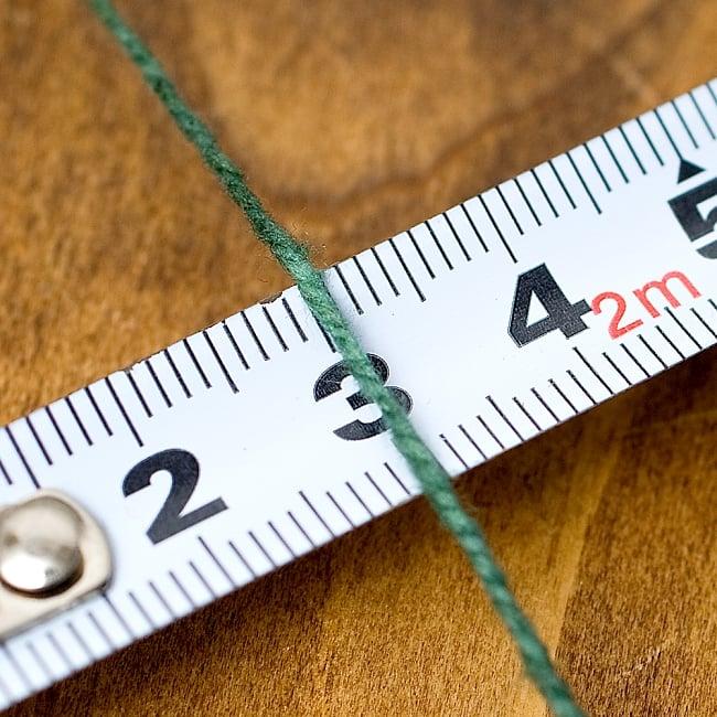 〔手芸用〕100%コットン紐 - ラスタカラー  4 - 太さはおよそ1mmです