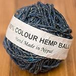 〔手芸用〕カラーヘンプボール - ナチュラル紫