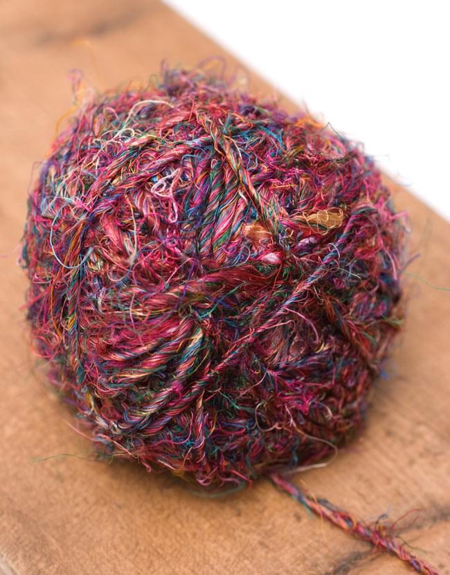 シルク・リサイクル・カラフル・スレッドボール の写真