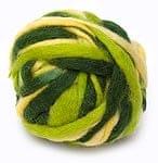 カラーウールボール - 緑×黄緑