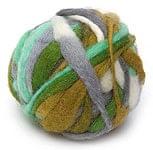 カラーウールボール - グレー×緑