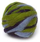 カラーウールボール - 緑×紫