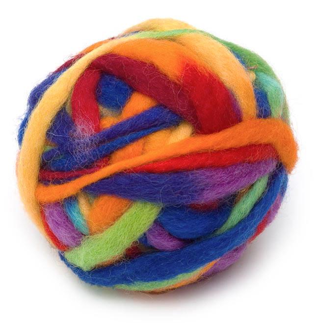 カラーウールボール - レインボーの写真