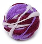 カラーウールボール - 紫