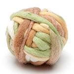 カラーウールボール - 黄緑×茶色