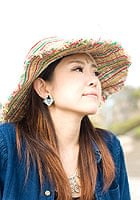 エスニック衣料のセール品:[日替わりセール品]ヘンプのワイドハット - ラスタ