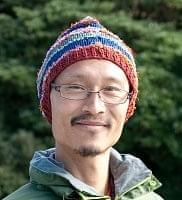 コットン・アートシルク・ヘンプののボーダーニット帽 【赤茶系】